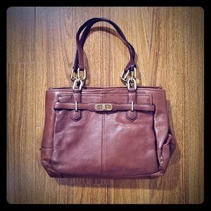 Coach Gold Chain Shoulder Handbag